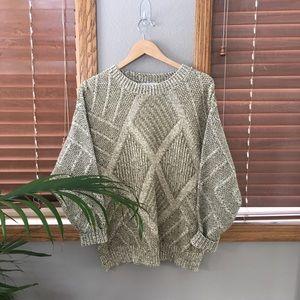Vintage Sage Knit Sweater